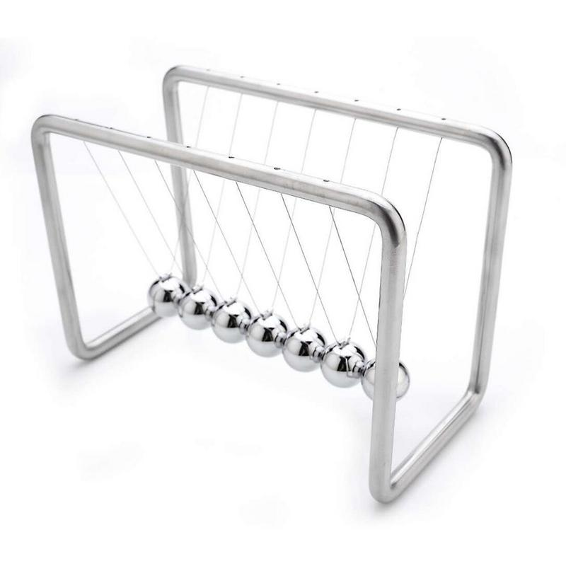 1pcs 7 Balls Newtons Cradle Balance Balls Science Psychology Puzzle Desk Fun Gadget With Stainless Steel Frame And Metal String1pcs 7 Balls Newtons Cradle Balance Balls Science Psychology Puzzle Desk Fun Gadget With Stainless Steel Frame And Metal String