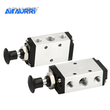 Hand control valve 4R210-08 Manual change  Lever Operated Control Pneumatic Manual Muffler 4mm 6mm 8mm 10mm 12mm Quick Fitting free shipping airtac 5 way pneumatic air hand lever operated valve 4h210 08 port 1 4 bsp manual control valves