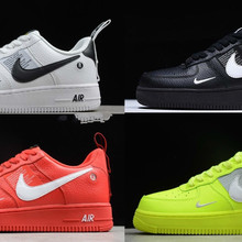 new styles 349c4 4b413 Air Force 1 One Low 07 Lv8 utilitaire noir blanc femmes hommes chaussures  Af1 baskets(