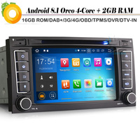Quad Core Android 8.1 Autoradio DVD Sat Nav WiFi 4G DVR OBD DAB+ Bluetooth GPS for VW Touareg T5 Multivan