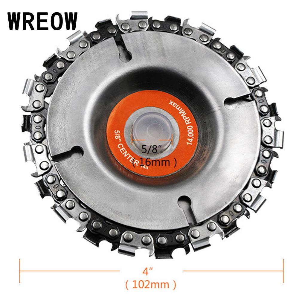 Universal Woodworking Chainsaw Blade 4inch Carving Disc For Woodworking Angle Grinders Cutting Disc Blade Power Tool Accessories