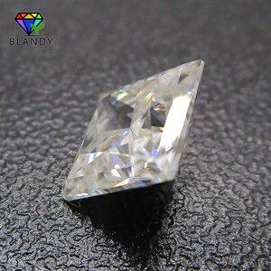 Image 2 - 3x3 ~ 12x12 مللي متر مربع الشكل الأميرة قص فضفاض DEF اللون الأبيض مويسانيتي حجر الأحجار الكريمة الاصطناعية ل مجموعات الزفاف الذهب الأبيض