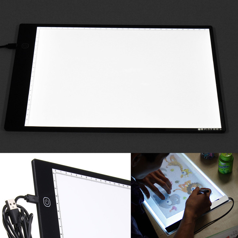 CLAITE Digital Graphic Tablet A4 LED A4 Adjustable Stepless Brightness Artist Thin Art Stencil Drawing Tracing Board Light BoxCLAITE Digital Graphic Tablet A4 LED A4 Adjustable Stepless Brightness Artist Thin Art Stencil Drawing Tracing Board Light Box