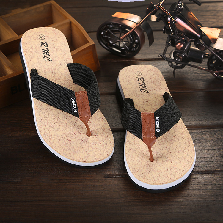 Slipper Man Shoes Flip-Flops Out-Door Male Canvas Leisure Large-Size Summer New Belt
