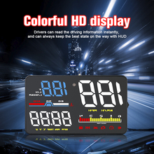 D5000 OBD2 Hud Car Speed Windshield Projector Head-Up Display Speedometer Projetor Auto Alarm OBD OBDii Reject Traffic