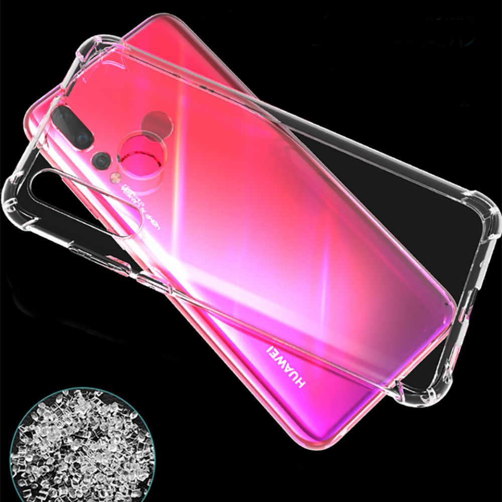クリア Tpu 電話ケース Huawei 社 Y7Pro Y9 1080p スマート 2019 P30 P20 lite プロノヴァ 4E 4 3 3i カバー名誉 10lite 8A 8C 8X V20 Funda