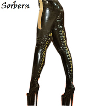 Sorbern Uitgerekt Shiny Model Tonen Laarzen Voor Vrouwen Dij Hoge Aangepaste Been Kalf Enkel Maat Schoenen Vrouwen Laarzen Hak Custom kleur