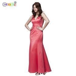 Coobee длинное платье для матери невесты, роскошное платье-русалка, плиссированное платье подружки невесты, вечернее платье для выпускного