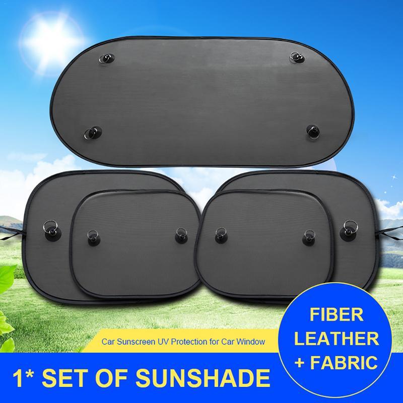 Sun-Visor Sunscreen Storage-Bag Uv-Protection Black Kids Suction-Cups Mesh For