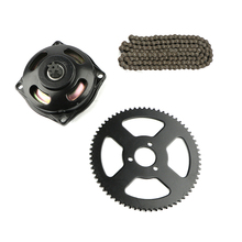 49cc System links loops Chain with Gear Box And Rear Sprocket For Mini Pocket Bike Moto Drive rear gear box housing complete set drive
