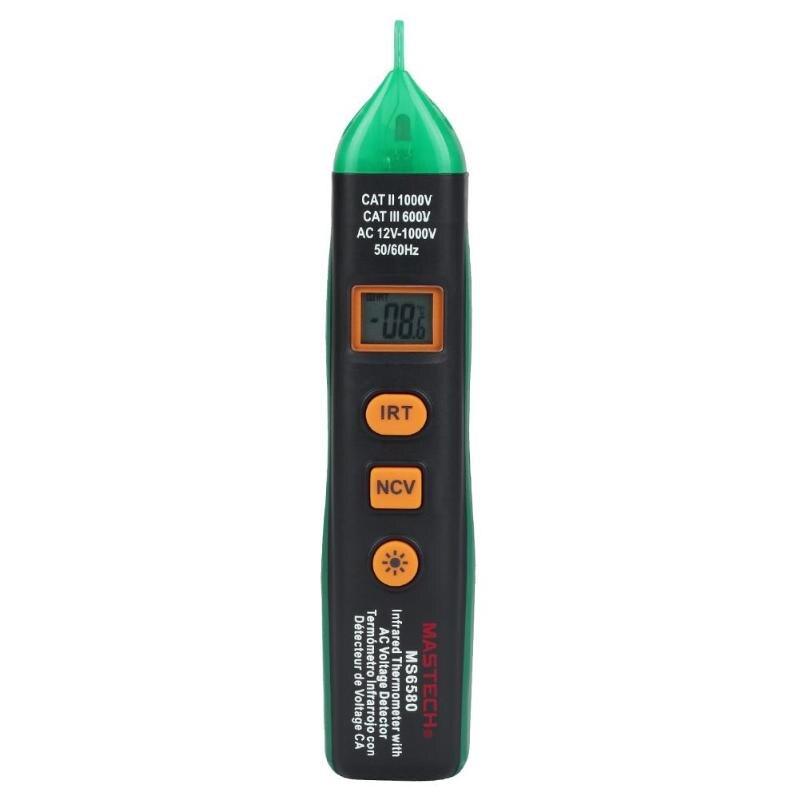 Thermomètre Laser infrarouge numérique IR compteur de température 12 v-1000 V détecteur de tension à affichage LCD sans contact