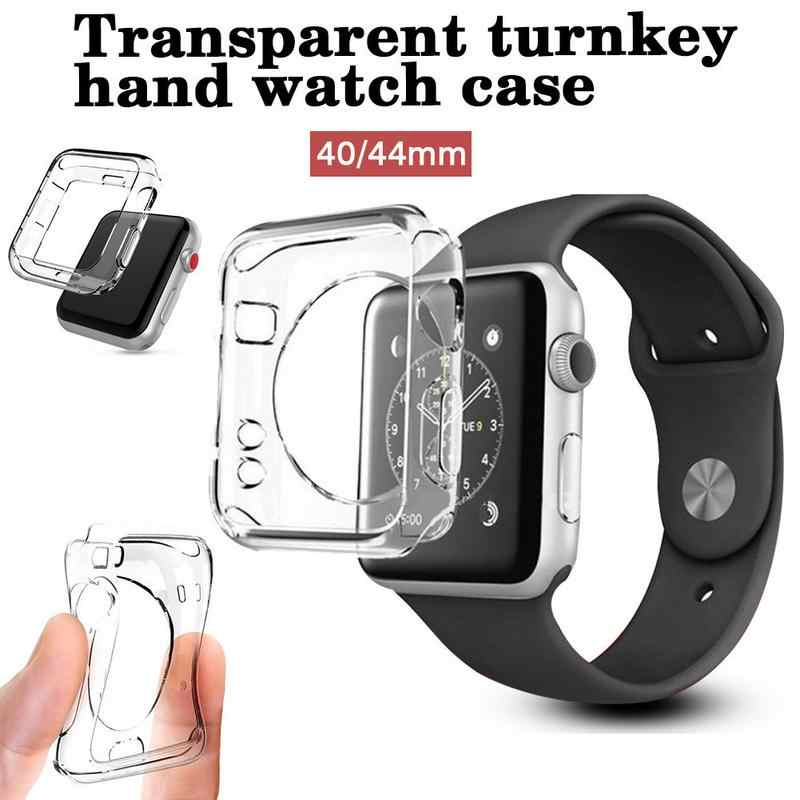 Transparan Lembut Rubber Case untuk Apple Watch 4 Generasi TPU Transparan Paket Shell 40 Mm/44 Mm