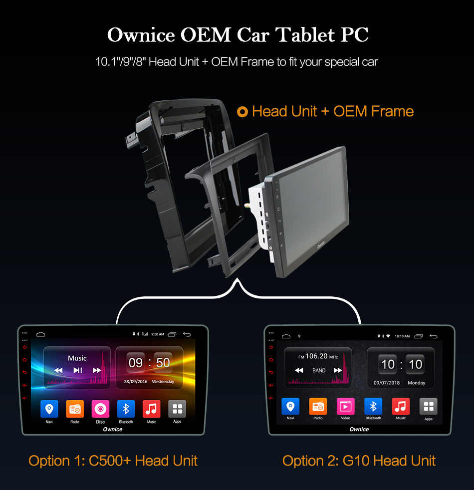 """Ownice C500 + G10 9 """"2.5D IPS Auto Radio 2 Din GPS Navigatie Stereo voor Pajero sport 2017 Android 8.1 8 Core 2 GB RAM 32 GB ROM"""