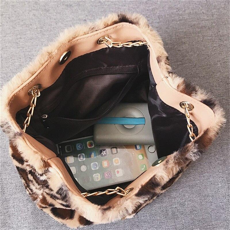 Osmond Feminine Bolsa Women Handbag Plush Chain Bag Fashion Faux Fur Messenger Bag Female Shoulder Crossbody Bag Ladies Tote 2
