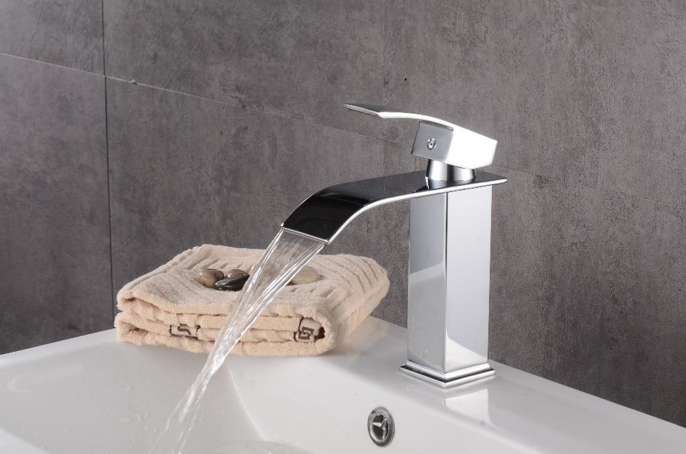 Robinets salle de bains évier bassin en laiton robinet cascade robinet d'eau robinet lavabo moderne mélangeur mitigeur robinets