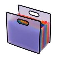 Аккордеон папка-гармошка A4 файл-конверт раздвижной шкаф 12 карманами Rainbow цветной портативный прием Органайзер с файловой руководство