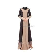 9e816715e8d8 Appliques robe islamique en mousseline de soie turque femmes vêtements  abayas pour femmes noir abaya robe