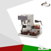 BAGF B3 Coffee machine warm stove with 3 glass decanters stainless steel