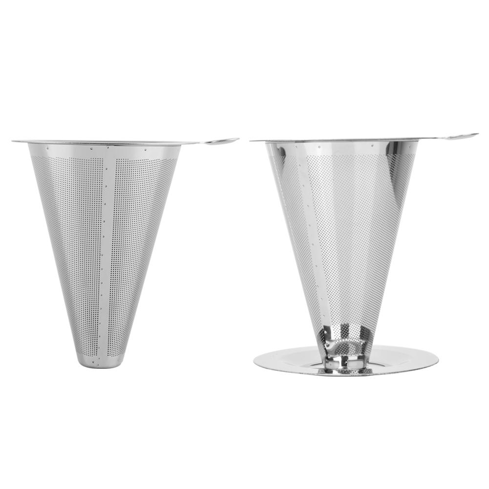 Stainless Steel Coffee Filter  Pour Over Coffees Dripper Mesh Coffee Tea Filter Basket Tools