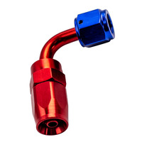 4AN AN4 4AN 90 Degree Swivel Oil/Fuel/Air/Gas Line Hose End Fitting Red Blue sale