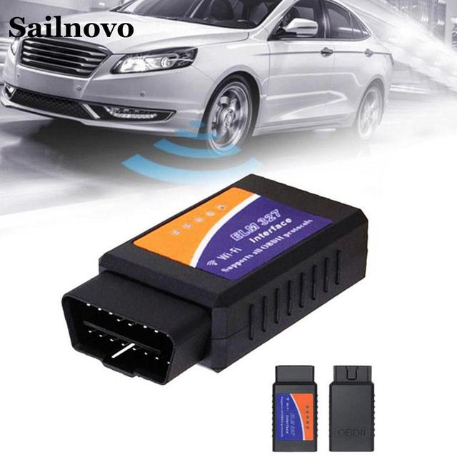 Cheap V1.5 OBD2 WIFI Car Diagnostic Tool Fault Diagnosis Instrument Auto Elm327  V1.5 OBD2 Scanner for IOS  Android Symbian Windows