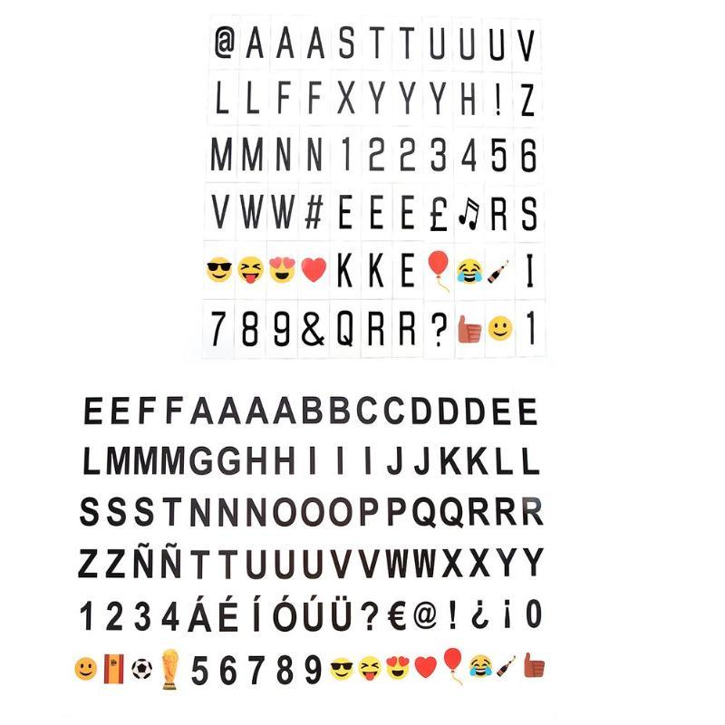 90 шт. Симпатичные Emoji буквы карты знаки для DIY A4 A5 Кино свет Box Декор уникальным узором карты для светодио дный комбинации коробка