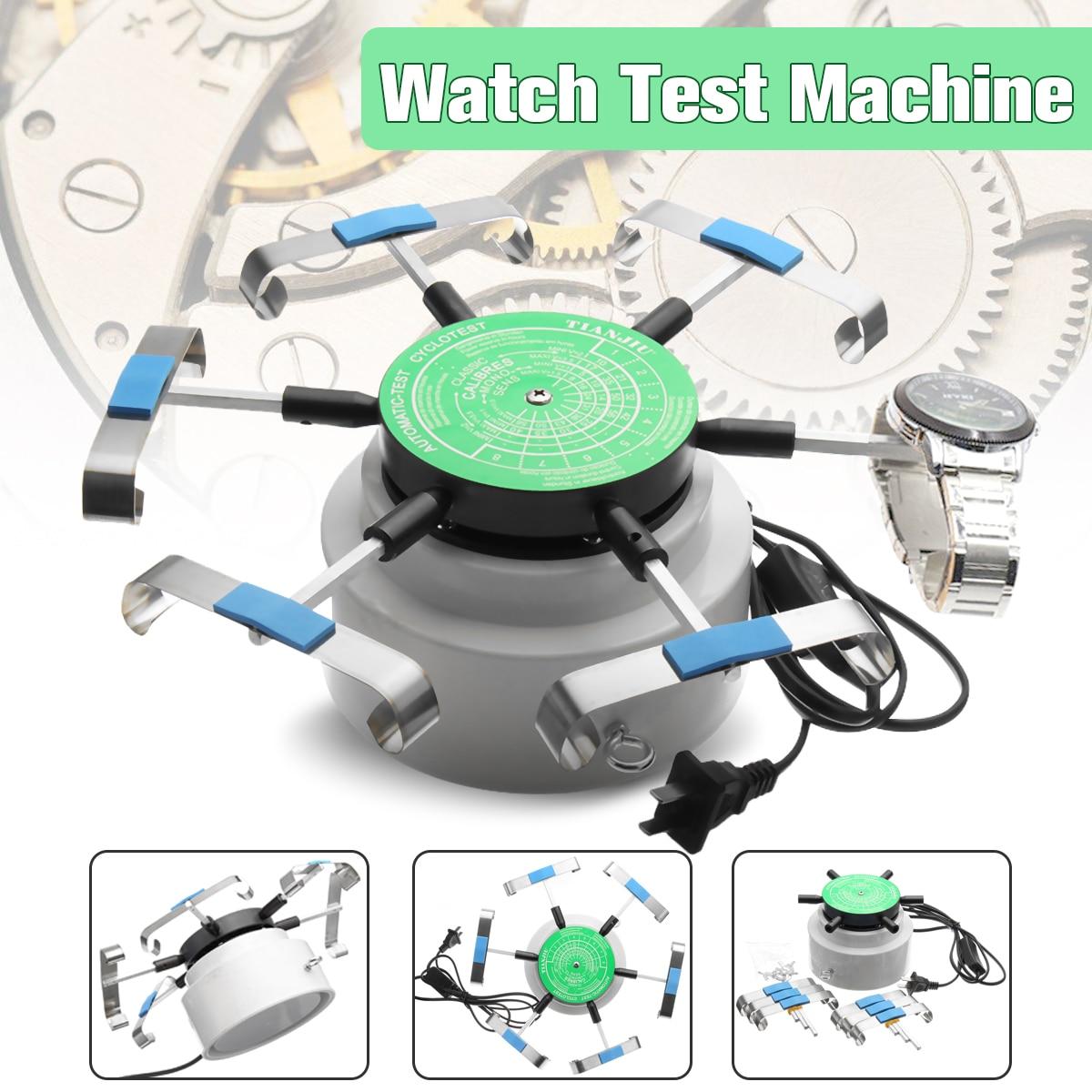 Automic Cymii Padrão DOS EUA 110 v-220 v Profissional-Teste Cyclotest Relógios Relógio Testador Máquina de Teste de Seis Relógios posição