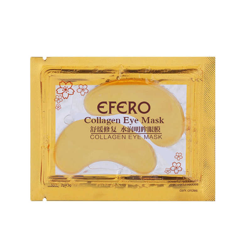 efero 20 Pcs Eye Mask Crystal Collagen Gel Eye Mask for Face Mask Eye Patches Anti-puffiness Dark Circle Masks Face Care TSLM2