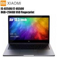 Xiaomi mi тетрадь Air 13,3 оконные рамы 10 Intel Core I5/I7 4 ядра 8 ГБ + 256 SSD отпечатков пальцев Двойной Wi Fi Ultrabook Ga mi ng ноутбука