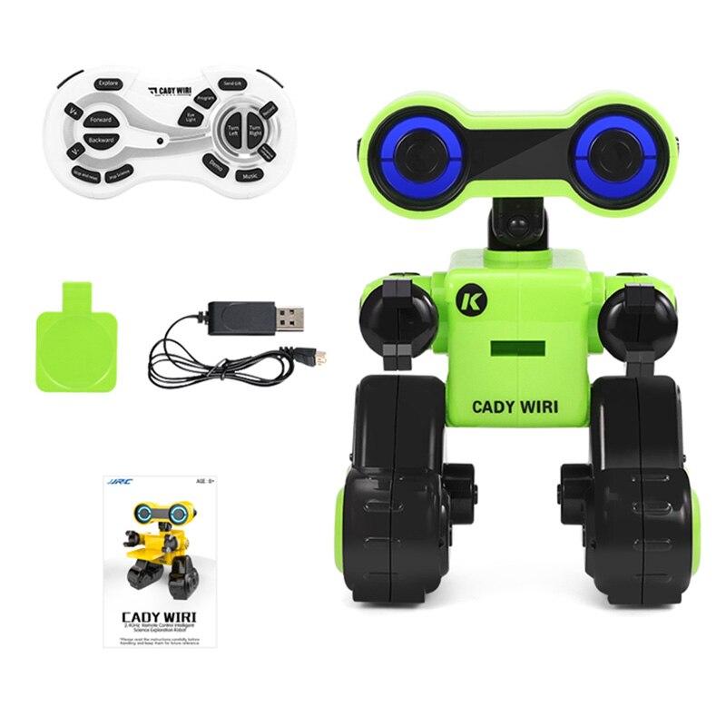 Nouveau JJRC R13 RC Robot YW CADY WIRI puissance Robot Intelligent télécommande intelligente Science Exploration jouet avec lumières rvb