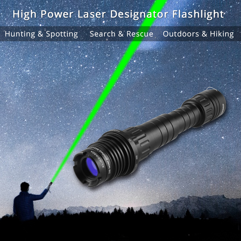 Laserspeed Long Distance Green Laser Designator Flashlight Sight Rifle 100mw Zoomable High Power Hunting Weapons Laser