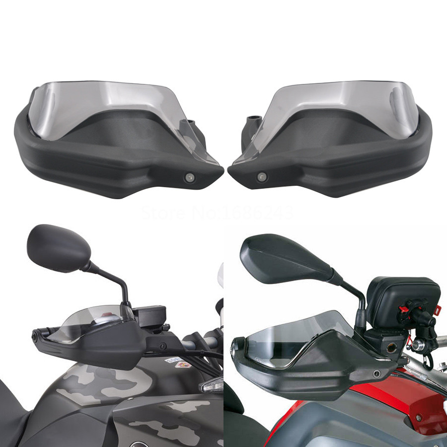 1 Pair Smoke Motorcycle Durable Windshield Handle Hand Guards Plastic Fits For BMW G310GS G310R 2017