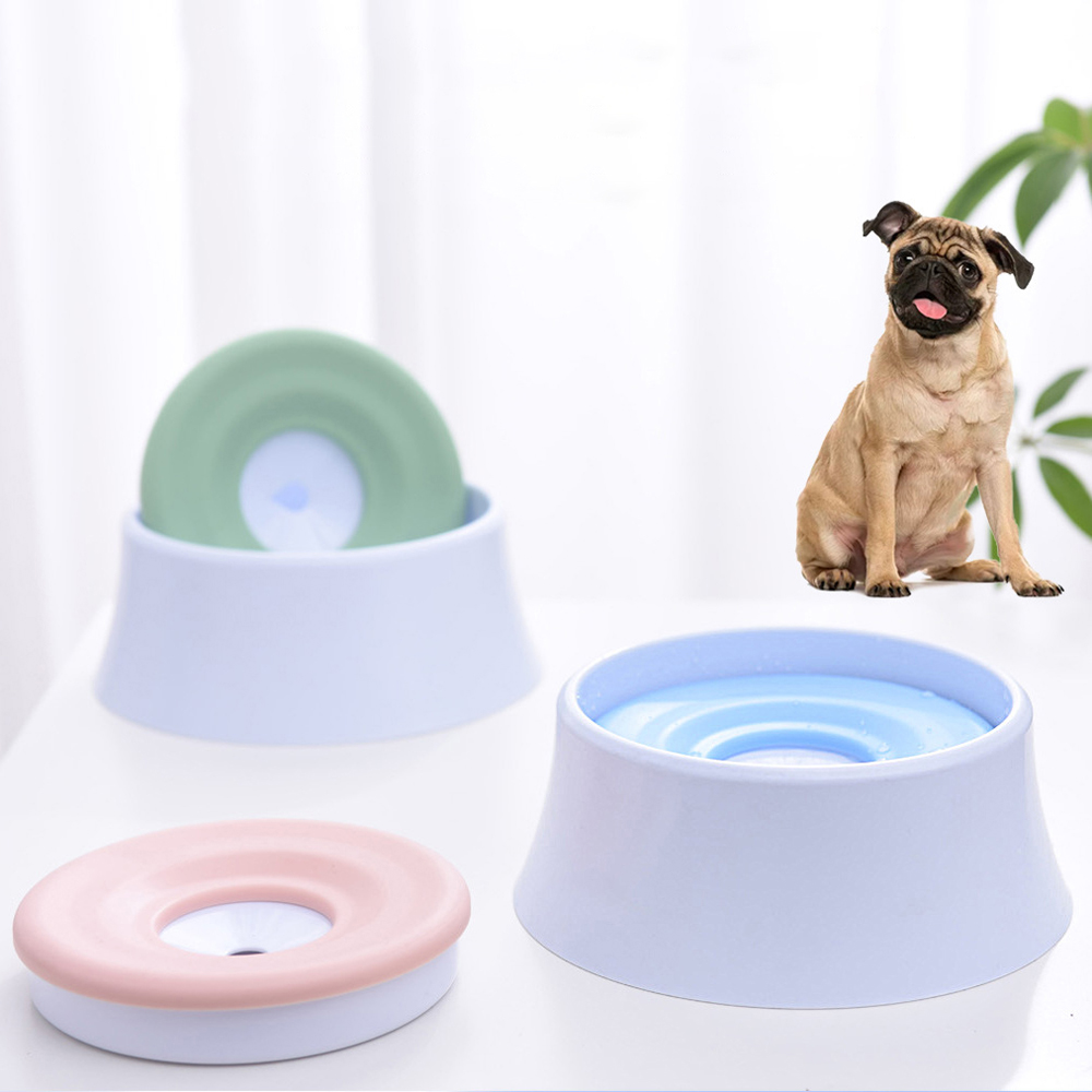 2019 Dog Cat Drinking Not Wet Mouth Floating Bowls Health Feeding High Quality Eco Friendly Plastic Water Feeders Bowl 3 Colours
