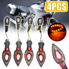 4pcs 12V Universal Moto LED Turn Signal Light Indicators Flashers Amber Blinker Motorcycle Accessories