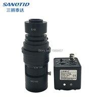 800TVL 1/3 CCD Digital Industrial Microscope Camera CS C/CS 0.4X Lens Support BNC Color Video Output F SMD BGA PCB Welding