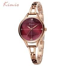 KIMIO Luxury Brand Unique Sky Star Watch Women Cross Cut Glass Rose Gold Bracelet Crystal Female Wrist Watches For