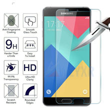 For Samsung Galaxy a5 a7 a3 2017 2016 2015 A530 Tempered glass For Samsung a6 plus 2018 Screen Protector Protective Glass Film(China)
