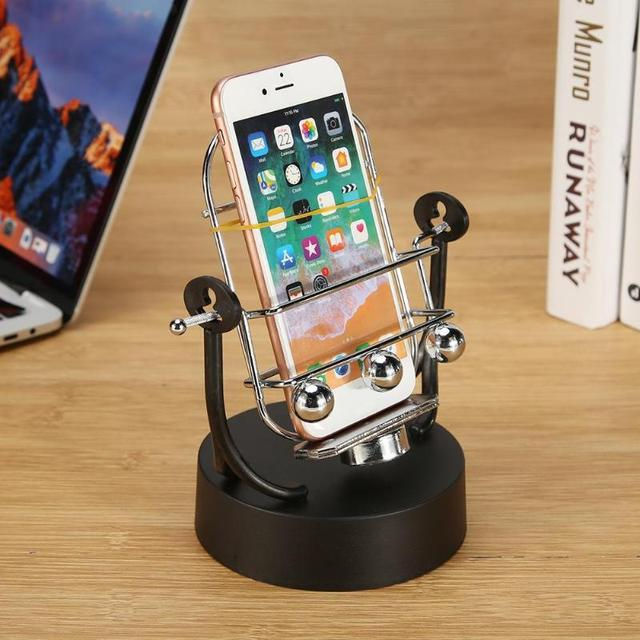 Creative Swing Automatic Shake Phone Wiggler for WeChat Motion Number of Brush Steps Set Home Decorative Shelves 2