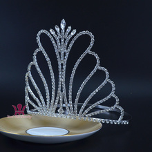 Miss beauty Pageant Tall Crown Tiara Rhinestone Crystal Bridal Princess Wedding  jewelry Party Hair Accessories Prom 36bae0865f3c