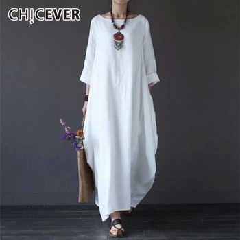 CHICEVER 2018 Plus Size Dresses For Women Three Quarter Sleeve 4XL 5XL  Loose Maxi Summer Women\'s Dresses Female Clothes Fashion