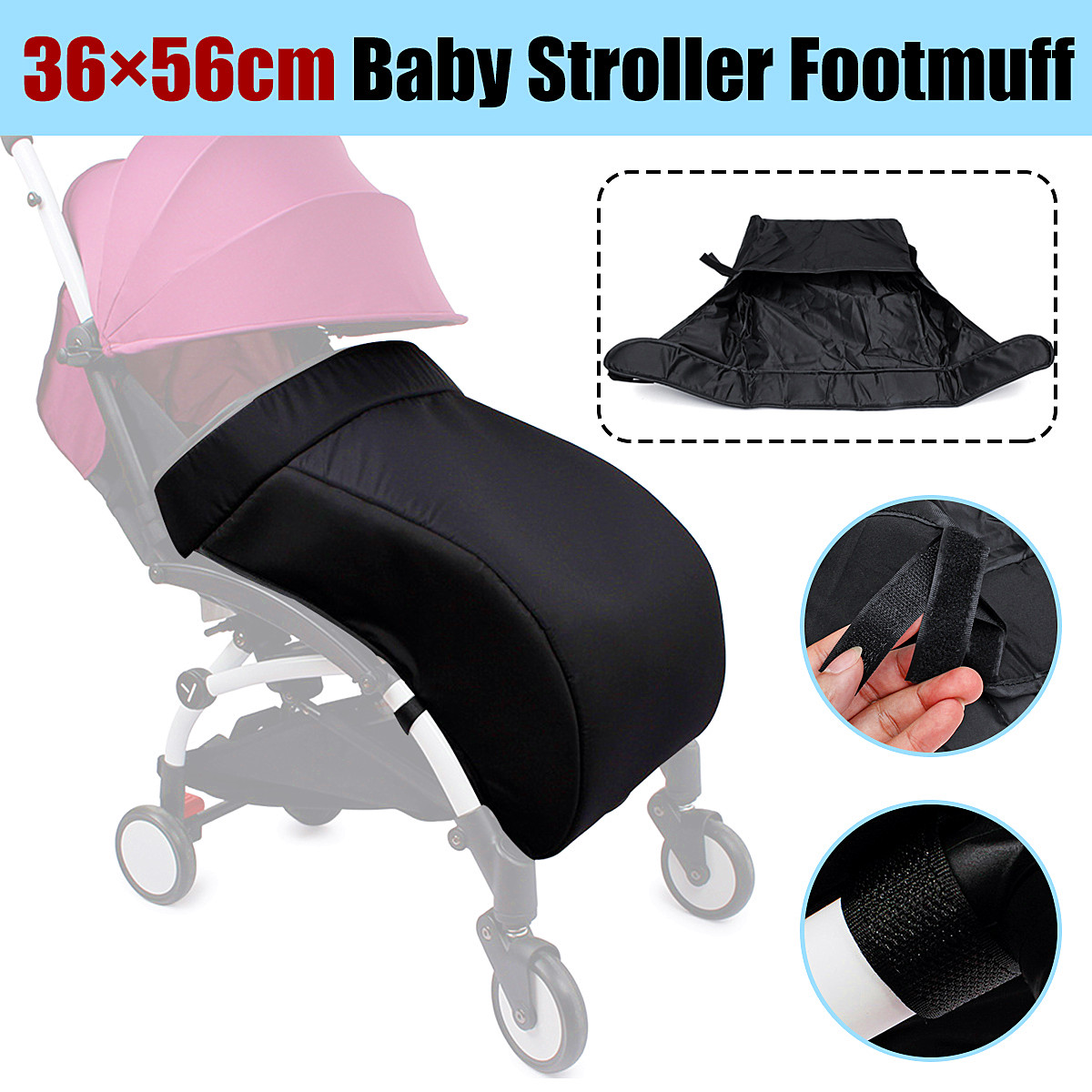 Universal Baby Stroller Footmuff Foot Cover Anti Wind Warm For yoyo For yoya For vovo Baby Throne Pram Foot Covers Case Bag