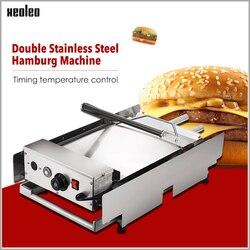 XEOLEO hamburger making machine Hamburger Baker Hamburger machine Commercial Double layer Burger maker Bakery Oven for KFC 2000W