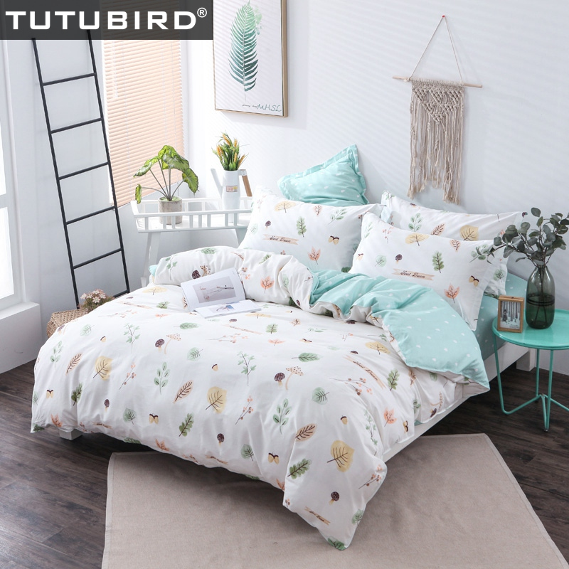100% cotton white and blue floral bedding sets 4pcs bedspread pastoral stlye princess girls women home textile for family100% cotton white and blue floral bedding sets 4pcs bedspread pastoral stlye princess girls women home textile for family