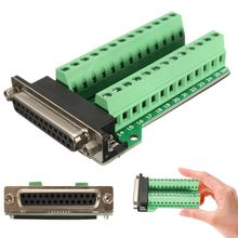 DB25 Konektor 25 Pin Perempuan Adaptor RS-232 Serial Port Antarmuka Breakout Papan Modul(China)