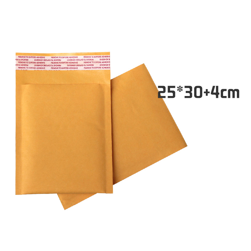50pcs/lot 25cm*30cm+4cm <font><b>Large</b></font> Yellow Kraft <font><b>Bubble</b></font> Bag Padded Envelopes <font><b>Mailers</b></font> Shipping image