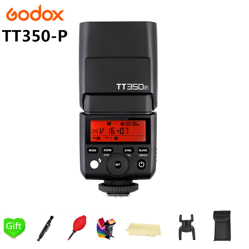 Godox Mini Speedlite TT350 TT350P Camera Flash TTL HSS GN36 for Pentax 645Z K-3II K-1 KP K-50 K-S2 K70 Camera in stock godox new xpro xpro p triggers ttl 2 4g wireless 1 8000s hss triggers for pentax k 1 k 3ii k70 k50 k s2 cameras