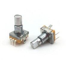 5 шт./лот, поворотный переключатель датчика EC11 с кнопочным переключателем, самовозвратный 5-контактный штекер, поворот влево или вправо, полу...