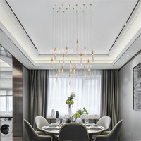 American Crystal Pendant Lights Lustre Loft Water Drop Glass LED pendant lamp Indoor Lighting Restaurant Hanglamp deco Lamps