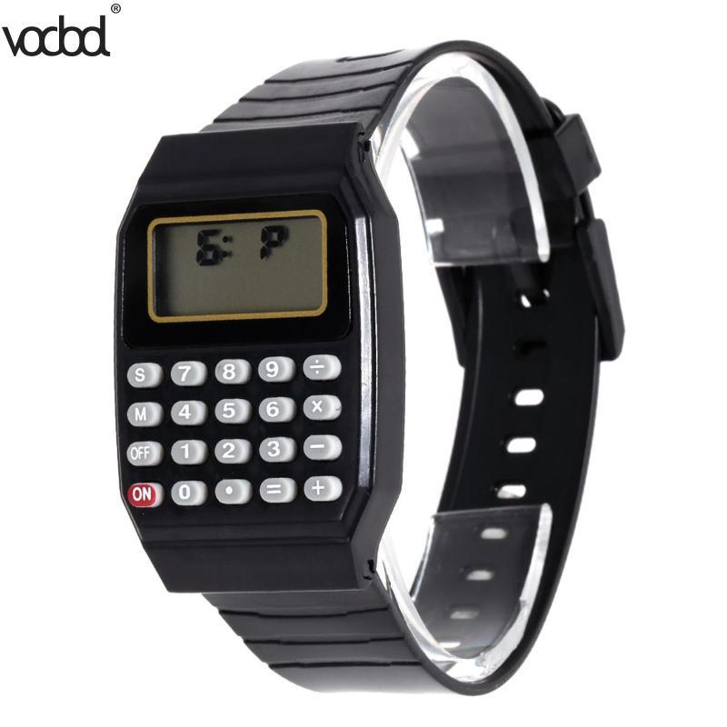 Kinder Kinder Datum Multi-zweck Rechner Silikon Armbanduhr Kinder Datum Monat Zeit Display Mini Rechner Mathematik Suppl