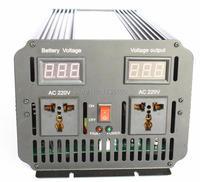 Free Shipping Doubel Digital Display 10000W Peak 5000watt Pure Sine Wave Inverter DC 24V TO AC 220V 230V 240V Power Inverter